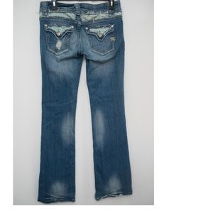 Miss Me Floral Pocket  Bootcut flare Distressed 29